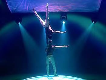 Cirque du Soleil's Mystère performers Marco and Paulo Lorador
